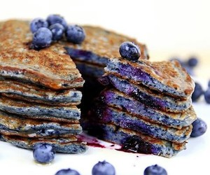 blueberry and pancakes image