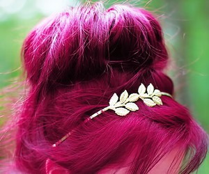 hair, pink, and summer image