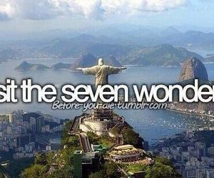 Seven Wonders, bucket list, and before i die image