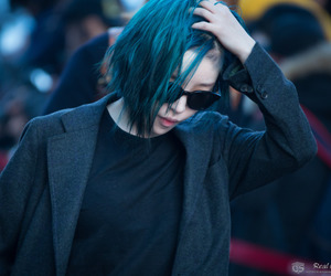 blue hair, fashion, and gain image