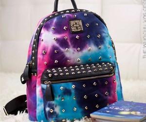 galaxy, bag, and backpack image