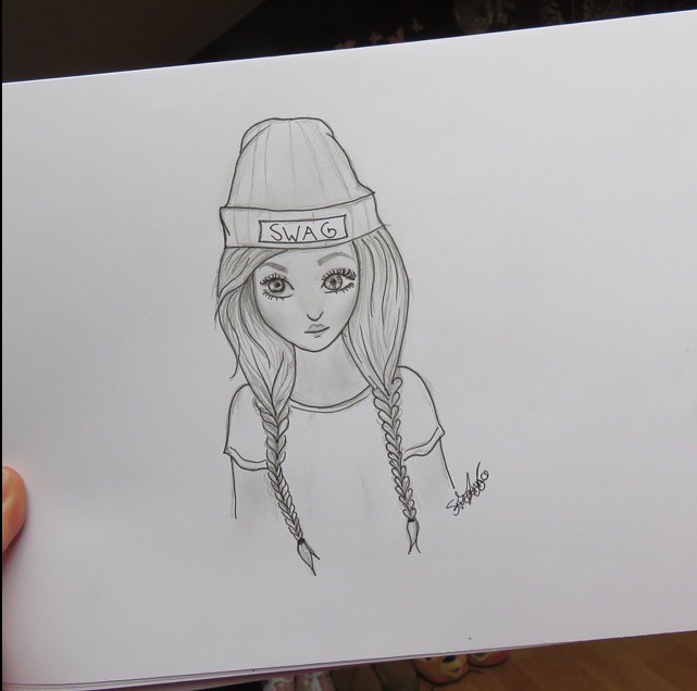 Tumblr Swag Girl Drawing Discovered By Suzanna Zijlstra