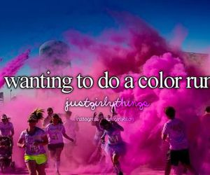 color run, pink, and run image