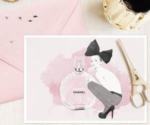 art, chanel, and drawing image