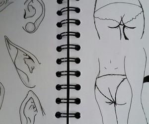 butts, drawing, and ears image