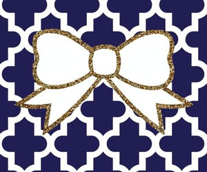wallpaper, bow, and pattern image