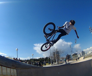 Barcelona, one hand, and bmx image