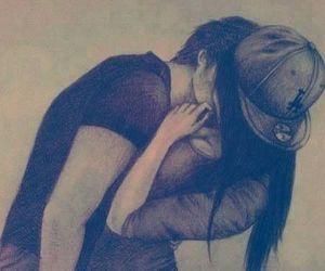 beautiful, kiss, and couple image