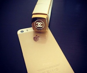 iphone, chanel, and gold image
