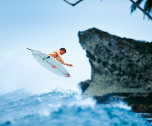 surf, surfboard, and surfer image
