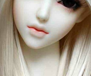 doll, barbie, and eyes image