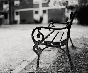 50mm, bench, and black and white image