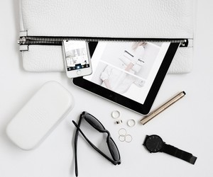 white, black, and accessories image