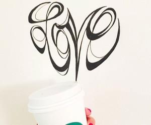 starbucks, coffee, and love image