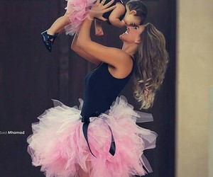 baby, pink, and daughter image