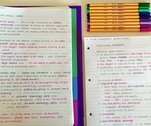 notes and studyblr image