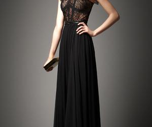 dress, black, and elie saab image