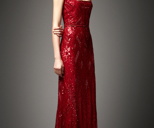 dress, elie saab, and red image