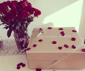 rose, Michael Kors, and gift image