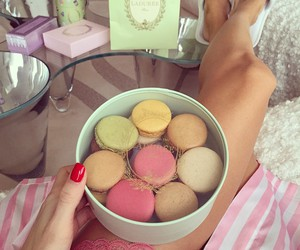 food, luxury, and macaroons image