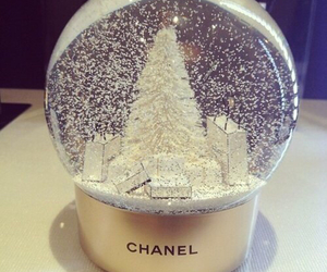 chanel, snow, and christmas image