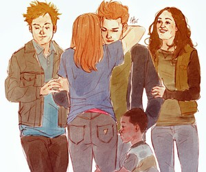 emmy rossum, ian gallagher, and family image