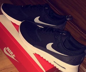 air max, black, and black and white image