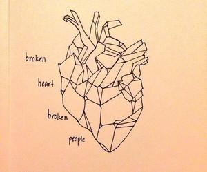 heart, art, and broken image