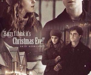 harry potter, christmas, and hermione granger image