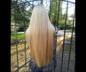 long hair and blonde hair image