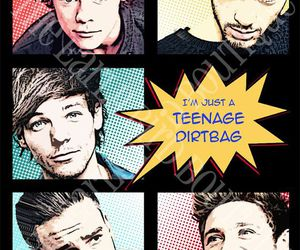 one direction, 1d, and teenage dirtbag image