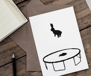 card, funny, and rabbit image
