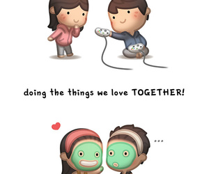 love, couple, and together image