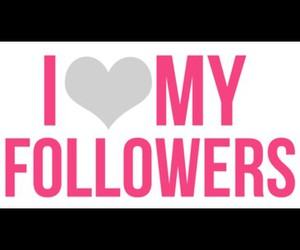 followers, grey, and heart image