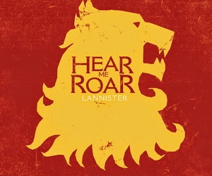 game of thrones, lion, and lannister image