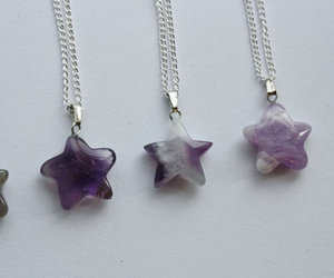 stars, necklace, and purple image