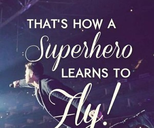 superhero, the script, and fly image