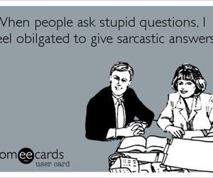 answers, ecards, and funny image