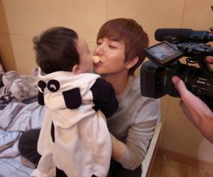 Leeteuk, super junior, and hello baby image