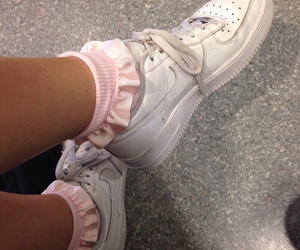 pink, nike, and pale image