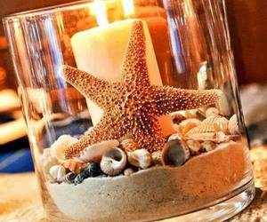 sand, shell, and star image