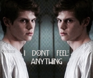 sad, evan peters, and american horror story image