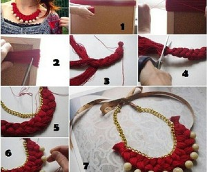 diy, necklace, and red image