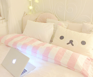 room, bed, and kawaii image