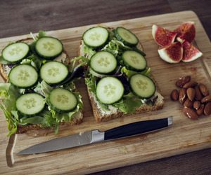 food, healthy, and cucumber image
