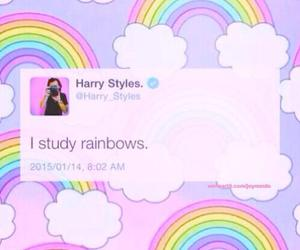 rainbow, Harry Styles, and one direction image