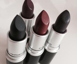 black, lipstick, and mac image