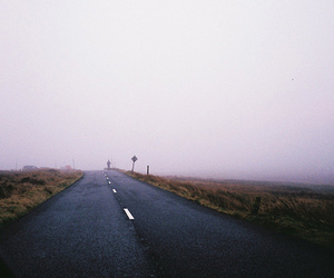 road, sky, and street image