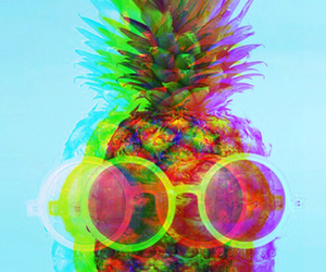 pineapple, hipster, and summer image