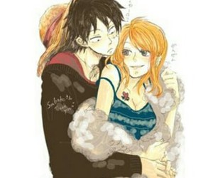 luffy, luffy x nami, and nami image